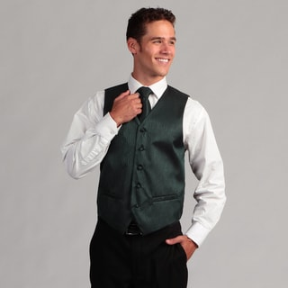 Ferrecci Men's Teal 4-piece Vest Set