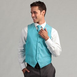 Ferrecci Men's Turquoise 4-piece Vest Set