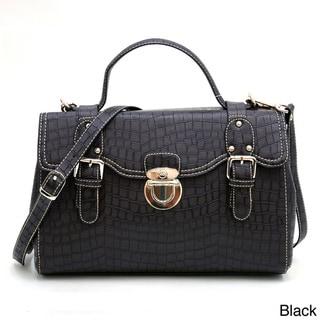 Anais Gvani Croco Embossed Mini Satchel Bag