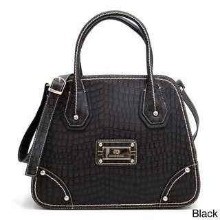 Anais Gvani Croco Embossed Satchel Bag