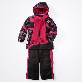 Rothschild Infant Girls' 2-piece Floral Print Snowsuit