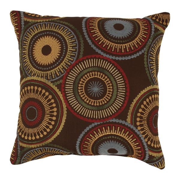 Riley 18-inch Chocolate Throw Pillow