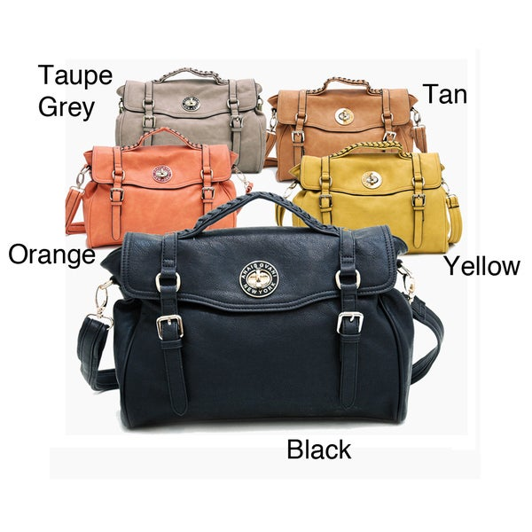 Anais Gvani Women's Fashion Belted Briefcase Messenger Bag