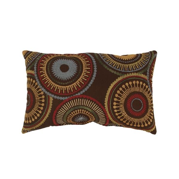 Pillow Perfect Riley Rectangular Chocolate Throw Pillow