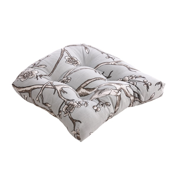 Pillow Perfect Vintage Blossom Dove Chair Cushion