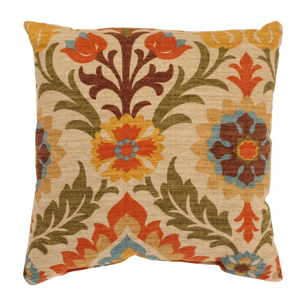 Santa Maria 16.5-inch Adobe Throw Pillow