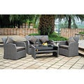 Aruba Aluminum/ Textweave 4-piece Settee Set