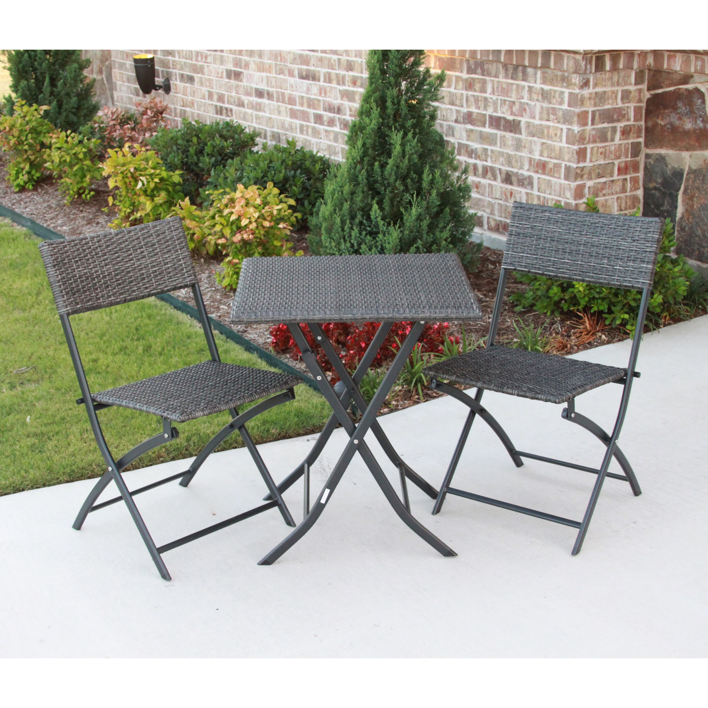 International Caravan Castillo 3-piece Resin/ Steel Folding Bistro Set at Sears.com