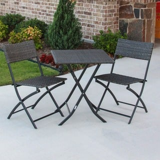 International Caravan Castillo 3-piece Resin/ Steel Folding Bistro Set