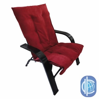 International Caravan Indoor/ Outdoor Folding Chair with Wooden Arms and Microsuede Cover