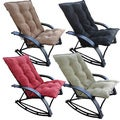 Indoor/ Outdoor Folding Rocking Chair with Chaise and Microsuede Cover