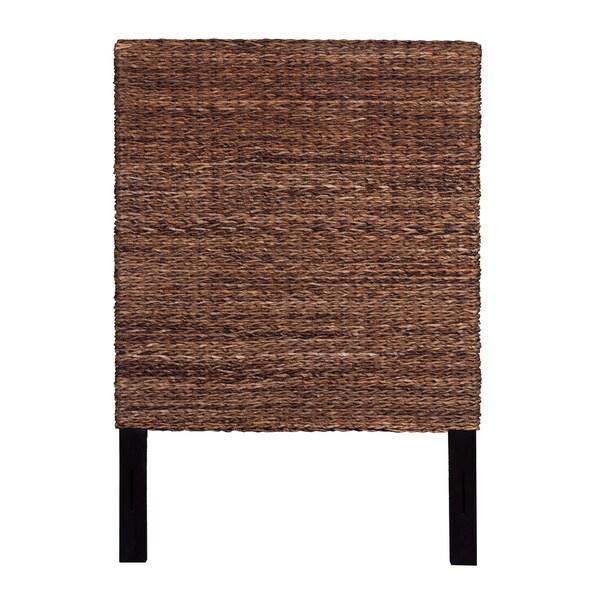 Meticulously Woven Tan Abaca Weave Headboard