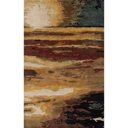 Monet Sunset Multi Hand-Tufted Wool Rug (8' x 11')