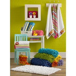 Shag Chenille 100-percent Cotton Kids Bath Rug
