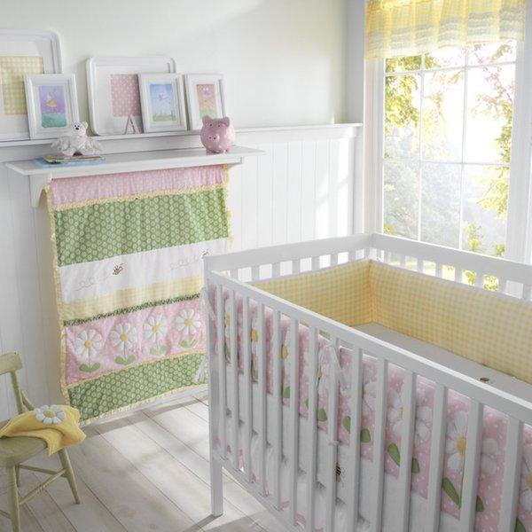 Big Believers Lazy Daisy 5-piece Crib Bedding Set