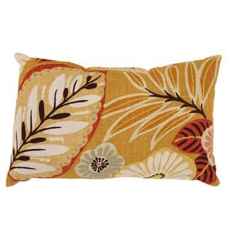 Gold Tropical Rectangular Throw Pillow