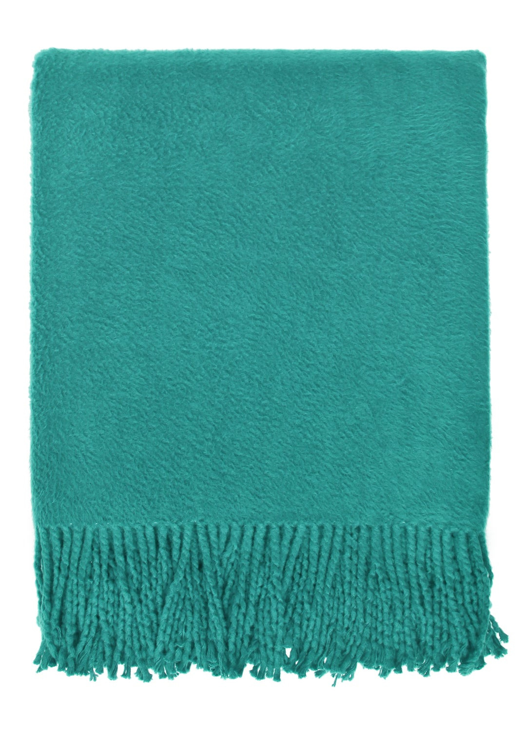 Brushed Organic Teal Cotton Throw