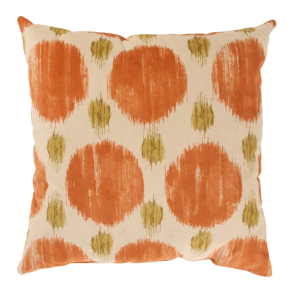'Polkaspot' Orange Throw Pillow