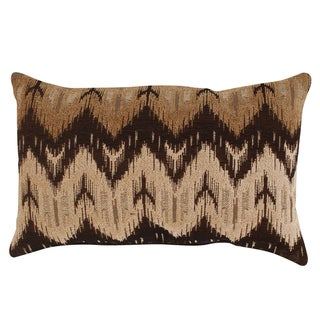 Pillow Perfect 'Ikat' Brown Chevron Rectangular Throw Pillow