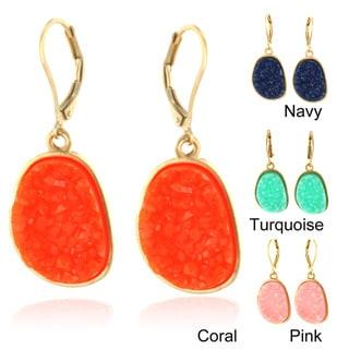 West Coast Jewelry Goldtone Faux Druzy Earrings