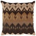 Pillow Perfect 'Ikat' Brown Chevron Floor Pillow
