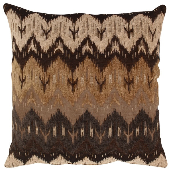 Pillow Perfect 'Ikat' Brown Chevron Floor Pillow