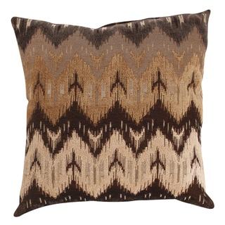 'Ikat' Brown Chevron Throw Pillow