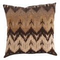 'Ikat' Brown Chevron Throw Pillow