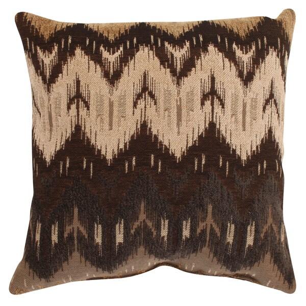 Pillow Perfect 'Ikat' Brown Chevron Throw Pillow