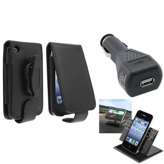 BasAcc Case/ Black Car Charger/ Holder for Apple� iPhone 3G/ 3GS