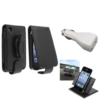 BasAcc Case/ White Car Charger/ Holder for Apple� iPhone 3G/ 3GS