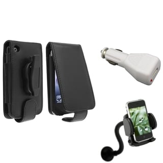 BasAcc Case/ White Car Charger/ Mount for Apple� iPhone 3G/ 3GS