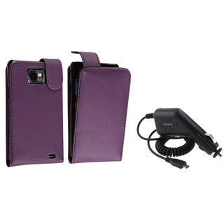 BasAcc Purple Case/ Car Charger for Samsung� Galaxy S II/ S2 i9100