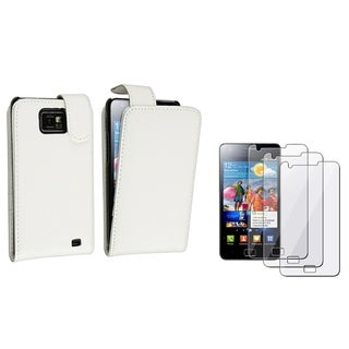 BasAcc White Case/ Screen Protector for Samsung� Galaxy S2 i9100