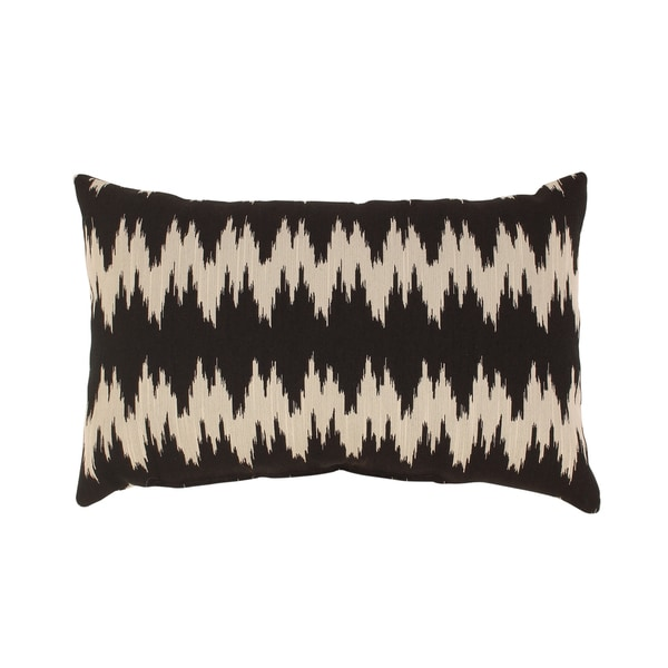 Pillow Perfect 'Gopala' Black Rectangular Throw Pillow