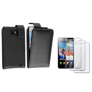 BasAcc Black Case/ Screen Protector for Samsung� Galaxy S2 i9100