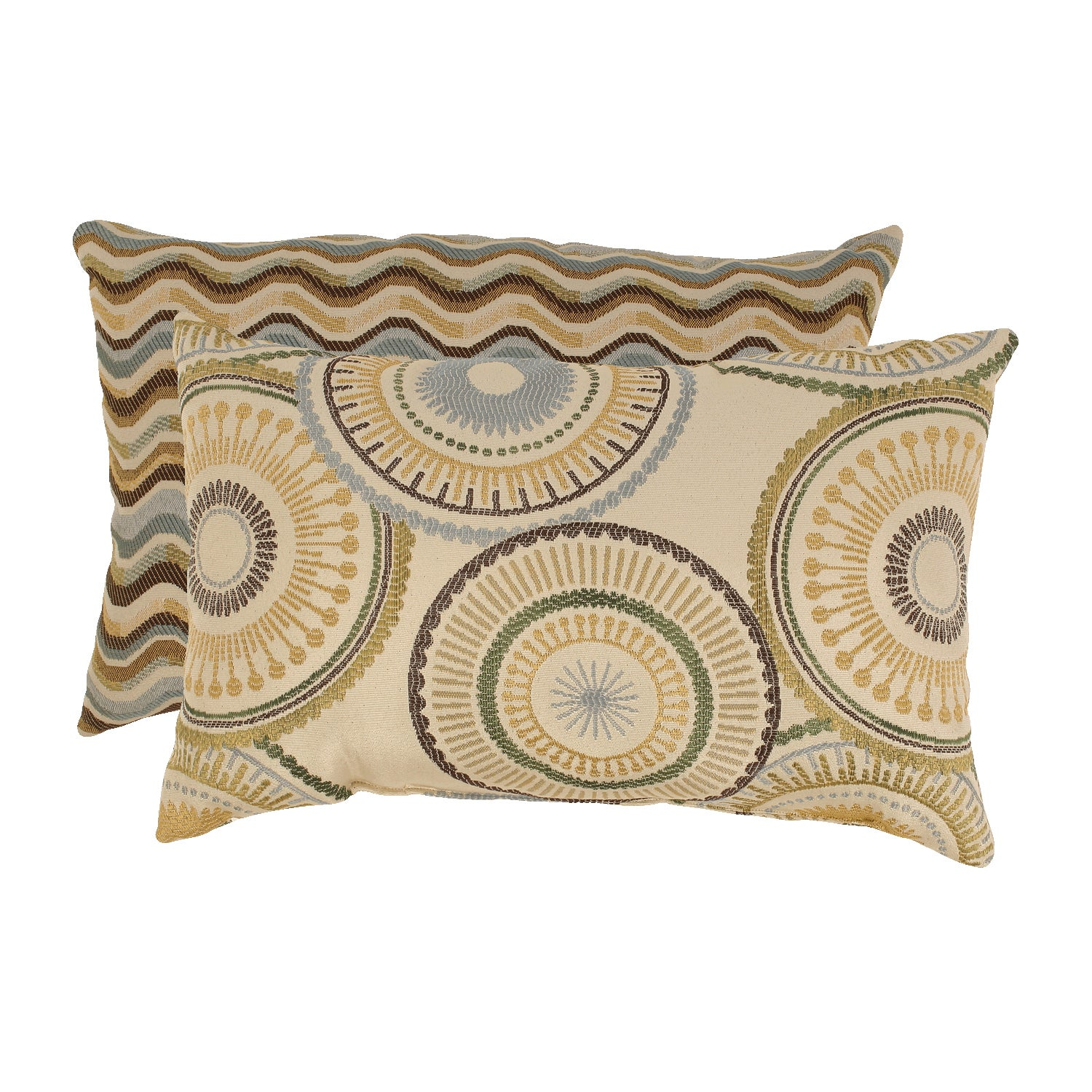 'Riley' and 'Wave' Rectangular Throw Pillows (Set of 2)