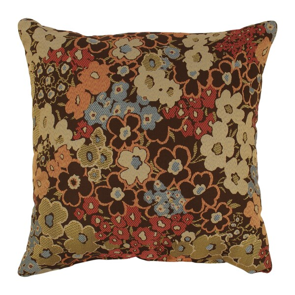 Brown Floral Throw Pillow : 'Meadow' Brown Floral Throw Pillow - 14698072 - Overstock.com Shopping - Great Deals on Pillow ...