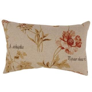 French Floral Rectangular Throw Pillow