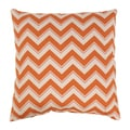 Chevron Grapefruit Throw Pillow