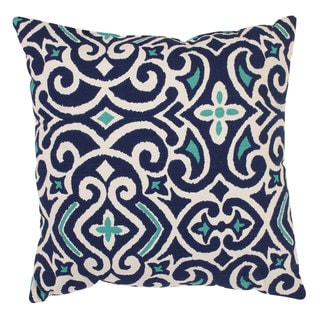 Pillow Perfect Blue/ White Damask Throw Pillow