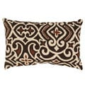 Pillow Perfect Brown/ Beige Damask Rectangular Throw Pillow