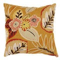 Gold Tropical 18-inch Throw Pillow