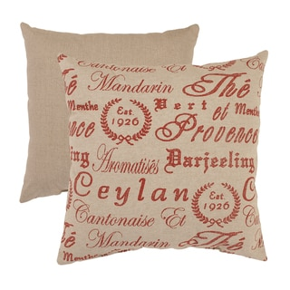 Teahouse French 18-inch Throw Pillow