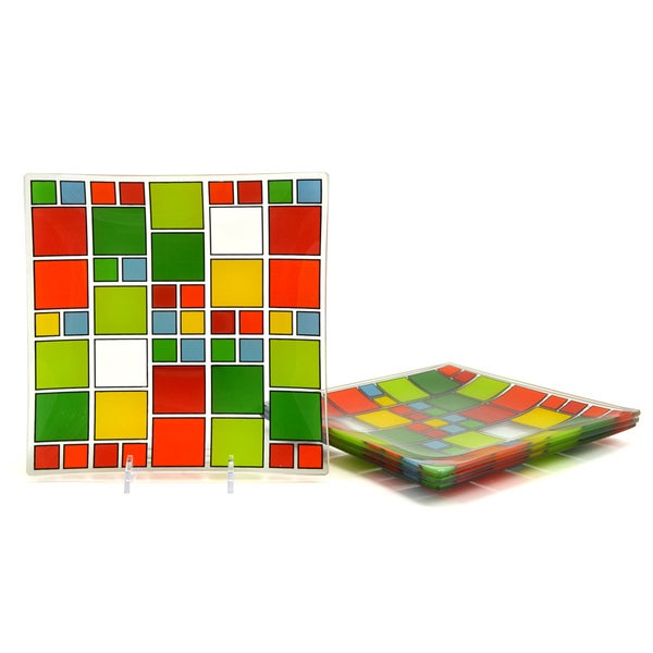 Tango 'Been Around the Block' Tempered Glass Appetizer Plate Set