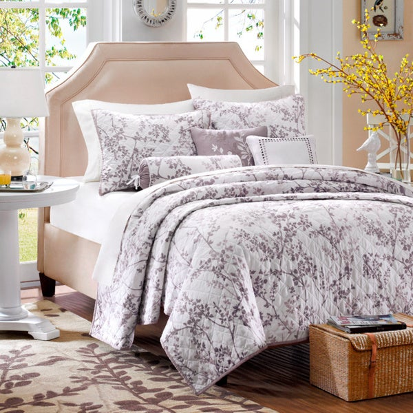 Madison Park Dusty Lilac 6-piece Coverlet Set