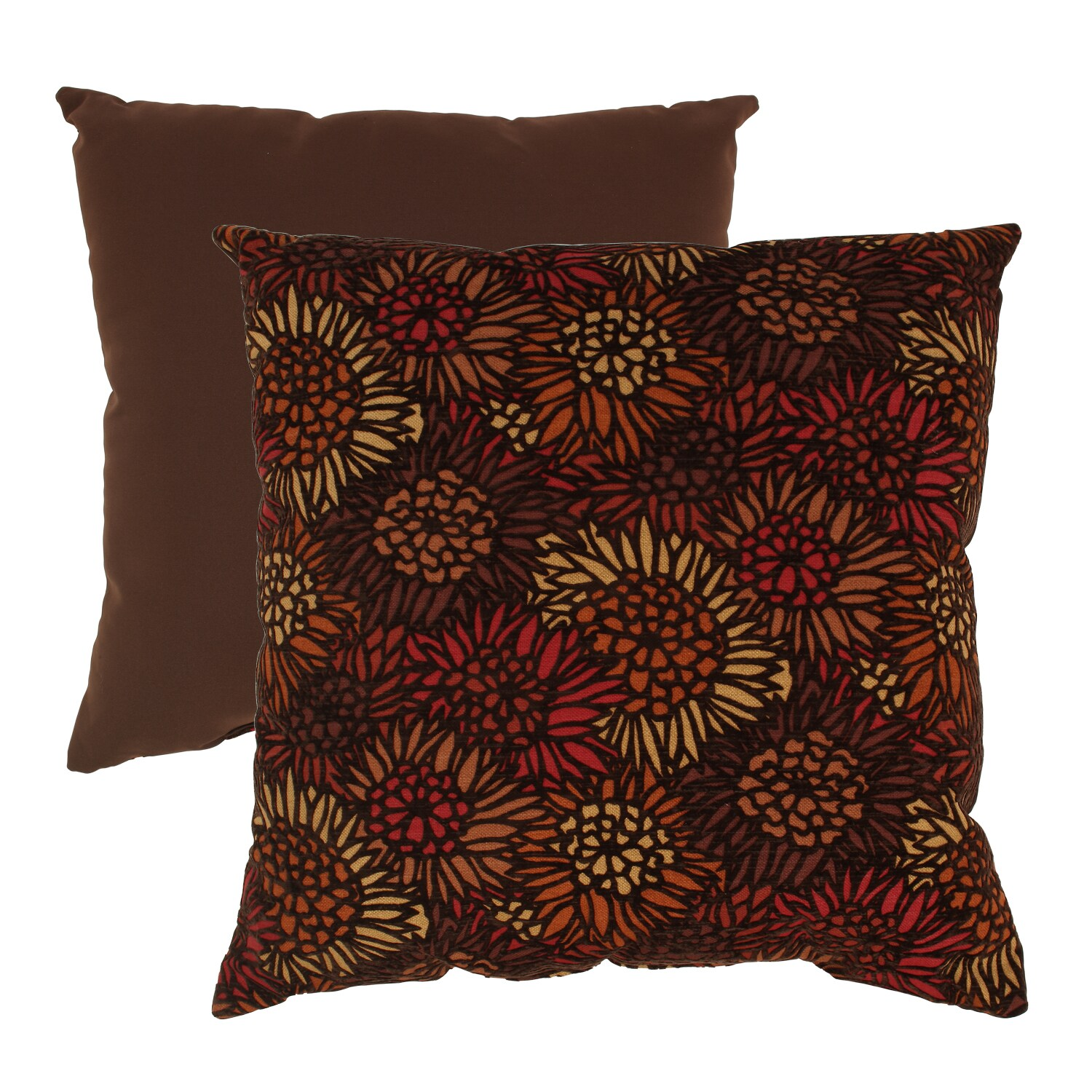 Flocked Floral 23-inch Floor Pillow