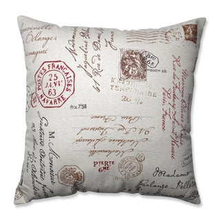 French Postale 24.5-inch Floor Pillow