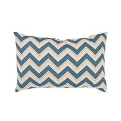 Pillow Perfect Chevron Rectangular Throw Pillow in Seaport