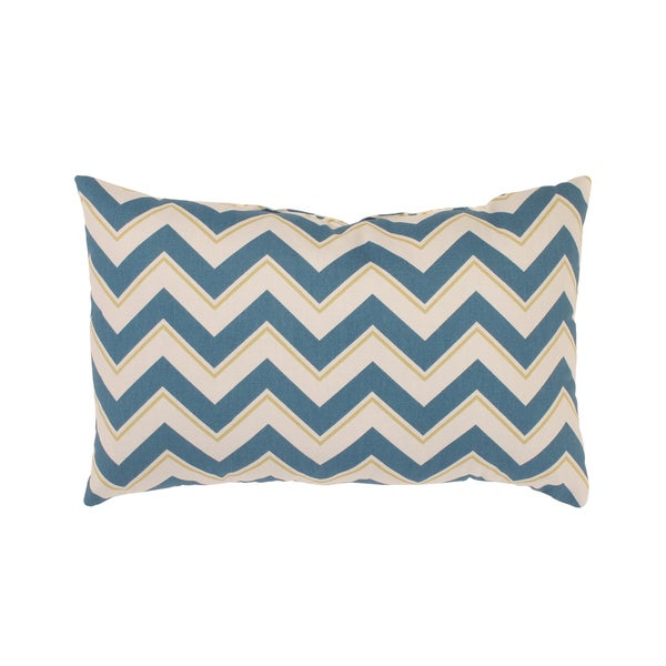 Pillow Perfect Chevron Rectangular Throw Pillow in Seaport